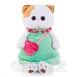 """Мягкая игрушка """"Кошечка Ли-Ли в мятном платье с розовой сумочкой"""" (24 см)"""