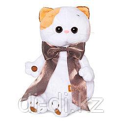 """Мягкая игрушка """"Кошечка Ли-Ли с атласным коричневым бантом"""" (27 см)"""