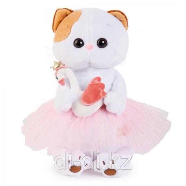 """Мягкая игрушка """"Кошечка Ли-Ли балерина с лебедем"""" (27 см)"""