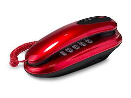 Телефон проводной Texet TX-236 красный