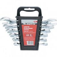 Набор ключей рожковых, 6х17 мм, 6 шт., CrV, хромированные MATRIX 15231 (002)
