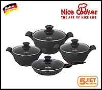 Набор посуды с каменным покрытием, Nice Cooker 8 , фото 1