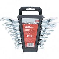 Набор ключей рожковых, 6 х 22 мм, 8 шт., CrV, хромированные MATRIX 15276 (002)