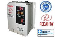 Стабилизатор напряжения электронный (релейный) 1 кВт - Ресанта ACH-1000Н/1-Ц - настенный