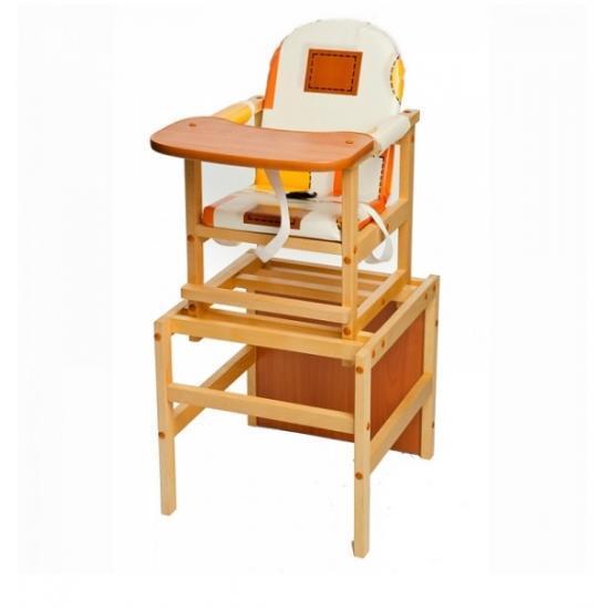 """Стол-стул для кормления Октябренок """"Капучино"""", (светлый дуб/бук), состав - массив березы"""