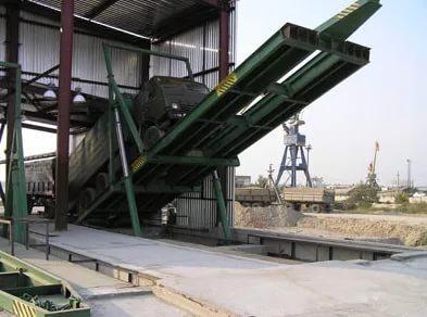 Автомобилеразгрузчики универсальные гидравлические типа У-АРГ (боковая платформа 6,4м)