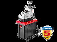 Электрический измельчитель Зубр, р/с 44, контейнер 60 л, 2800 Вт