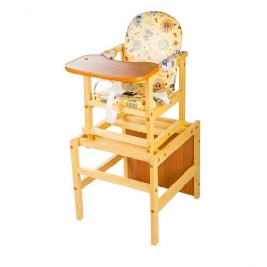 """Стол-стул для кормления Октябренок """"Совенок"""",(дуб/бук) , состав - массив березы"""