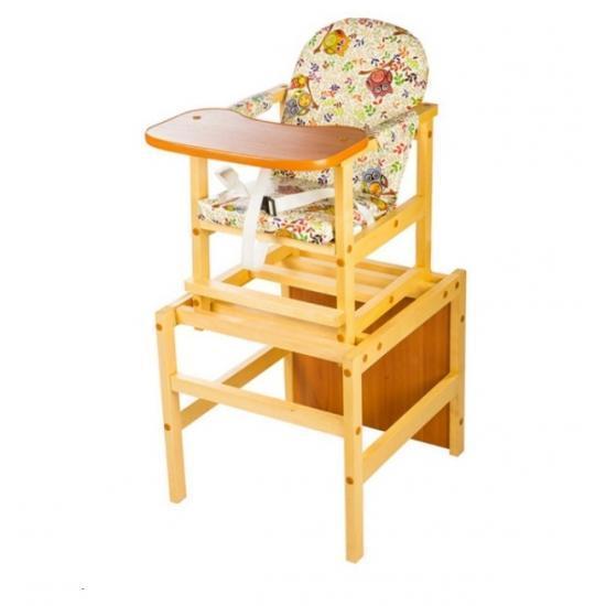 """Стол-стул для кормления Октябренок """"Совушка"""",(дуб/бук) , состав - массив березы"""
