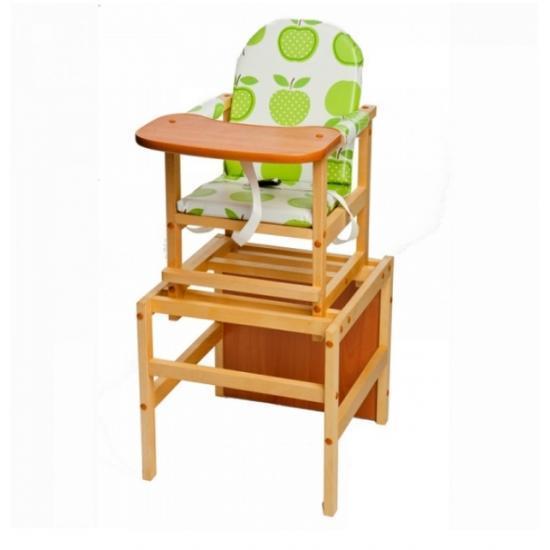 """Стол-стул для кормления Октябренок """"Яблоко"""", (светлый  дуб/бук)  , состав - массив березы"""