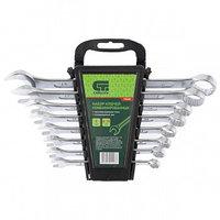 Набор ключей комбинированных, 8 - 19 мм, CrV, 8 шт СИБРТЕХ 15448 (002)