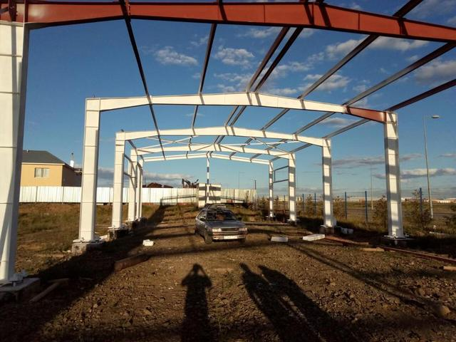 Нанесение огнезащиты на металлоконструкцию в индустриальном парке г.Астана / 2017 год 44