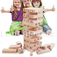 """Настольная игра """"Дженга"""" 54 деревянные детали с кубиками"""