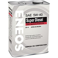 Моторное масло Eneos SUPER DIESEL Synthetic 5w40 4 литра