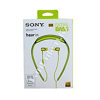 Наушники вакуумные Sony Extra Bass с затылочной дужкой зеленые