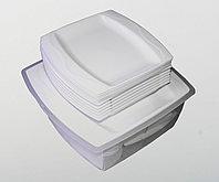 Набор туристической посуды, пластиковый, белый