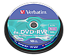 DVD-RW Verbatim Matt Silver 4,7GB 120min, 4x Speed, в Cakebox. (43552) 10 дисков в шпинделе