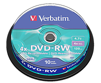 DVD-RW Verbatim Matt Silver 4,7GB 120min, 4x Speed, в Cakebox. (43552) 10 дисков в шпинделе , фото 1