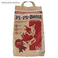 Наполнитель минеральный комкующийся Pi-Pi-Bent Classic, крафт-пакет, 10 кг