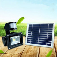 Прожектор с солнечной батареей и датчиком движения, 50 Вт, фото 1