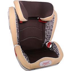 """Детское автомобильное кресло SIGER ART """"Олимп"""" коричневый ромб, 3-12 лет"""