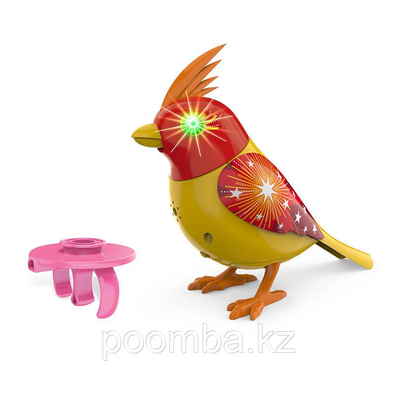 Интерактивная птичка DigiBirds с мерцающими глазами (звук, свет)