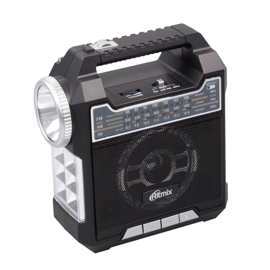 RITMIX RPR-444 Радиоприемник портативный BLACK