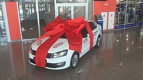 Подарочное оформление главного приза авто машины  7