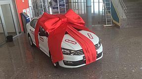 Подарочное оформление главного приза авто машины  8