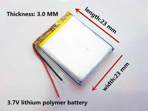 Аккумулятop 3,7v 100mAh 302323 для MP3 3х23х24