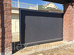 Откатные ворота из сенд.панелей, фото 2