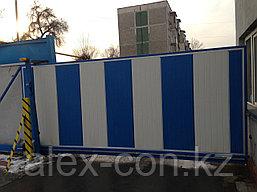 Откатные ворота из сенд.панелей, фото 3