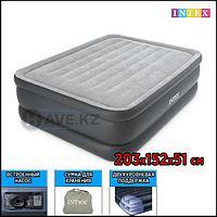 Двухспальная надувная кровать - матрас Intex 64140 - 203х152х51, со встроенным насосом, фото 1