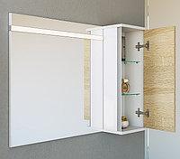 Панель с зеркалом, шкафчиком и подсветкой Aqwella Miami 90 Mai.02.09