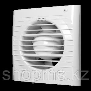 Вентилятор осевой вытяжной ЭРА ERA 5S-02 ф125 с антимоскитной сеткой, шнуровым тяговым выключателем, фото 2