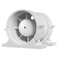 Вентилятор осевой канальный приточно-вытяжной ЭРА PRO 4 ф100 с крепежным комплектом