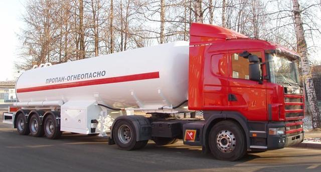 Газовозы, Полуприцепы и автоцистерны для транспортировки и заправки СУГ (пропан-бутана).