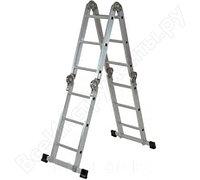 Лестница, 4 х 3 ступени, алюминиевая, шарнирная // Pоссия