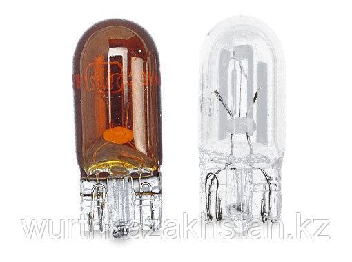 Лампа безцокольная  желтый цв. 12V   5W