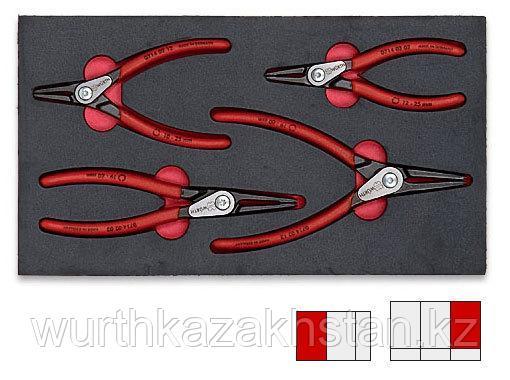 Набор съемников стопорных колец прямых 4 шт