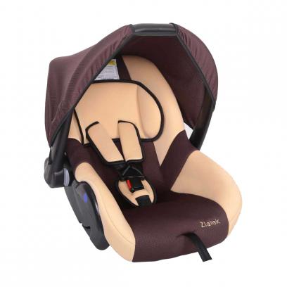 """Детское автомобильное кресло ZLATEK """"Colibri"""", (коричневый), 0-1,5 лет"""