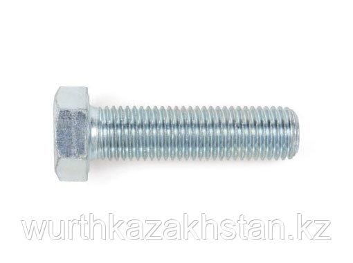 Болт M20X50 6-и-гр по DIN933 с полной резьбой, оцинк. сталь 8.8-WS30-(A2K)