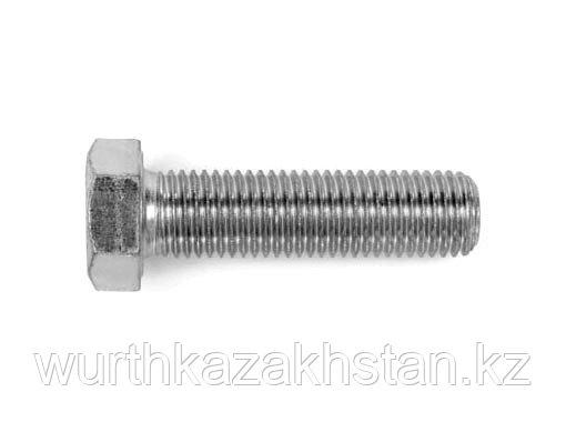 Болт M6X45 DIN933 нержавеющая сталь- А2