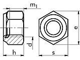 Гайка с уплотнением  М 12 * 1,25 сталь 8 оцинкованная, фото 2