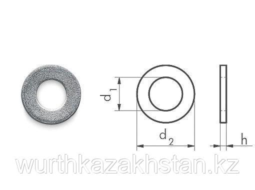 Шайба оцинк, d.внутр-21,0 , толщина- 3 мм.