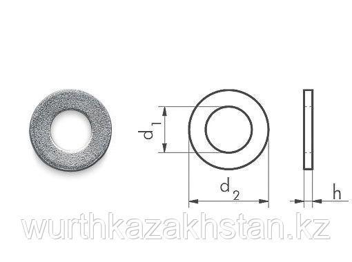 Шайба оцинк, d.внутр-4,3 толщина- 0,8 мм.