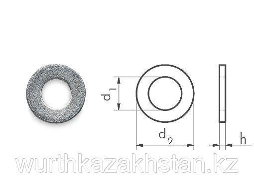 Шайба для М16 нерж. сталь А 2 по DIN 125A