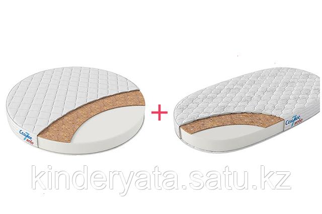 Комплект из 2-х матрасов для круглой/овальной кроватки