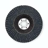 Лепестковый шлифовальный диск d.125мм, зерно 40, по нерж. стали, фото 2