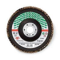 Лепестк. шлиф. диск по нерж. прям d-125mm G80